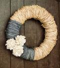 Raffia Wreath with Dahlias