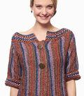 Metallic Crochet Funky Stripes Cardigan
