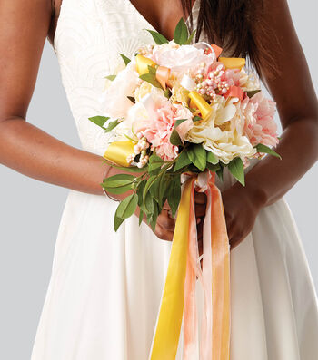 How To Make A Bridal Bouquet with Ribbon