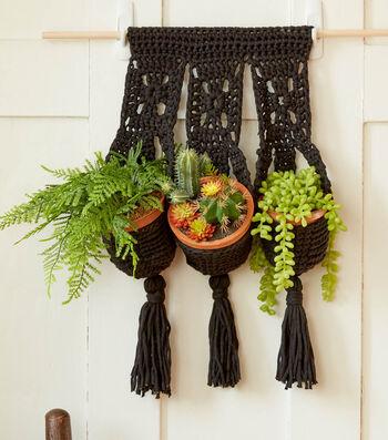 How To Make A Bernat Crochet Hanging Plant Trio