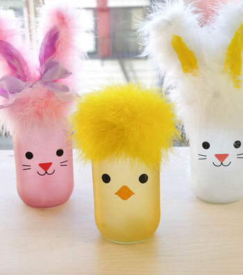 How To Make Feather Easter Jars