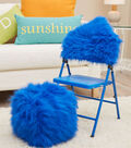 Fur Chair Back Cover And Cube