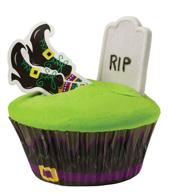Almost Buried Tombstone Cupcakes