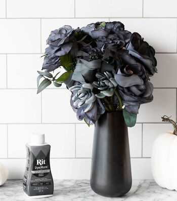 How To Make Dyed Spooky Faux Flowers
