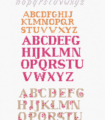 How To Make Mixed Font Alphabet Embroidery