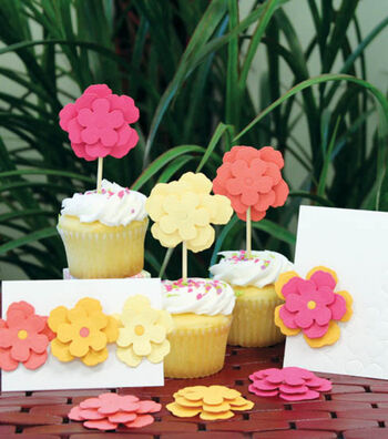 Flower Cards & Cupcake Toppers