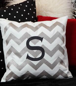 How To Make a Chevron Monogram Pillow