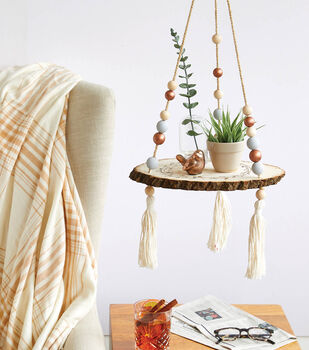 How To Make a Wood Slab Hanging Shelf