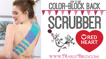 How To Knit Color Block Back Scrubber