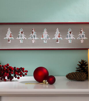 How To Make a Christmas Treeline Art