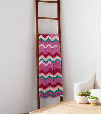 How To Make a Bernat Blanket Breezy Chevron Breeze Crochet Afghan