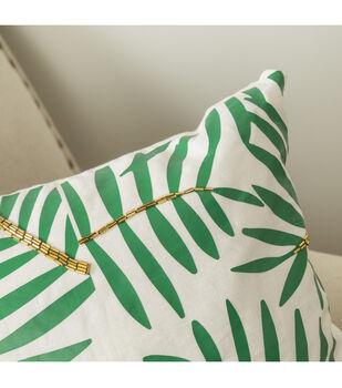 How To Make A Beaded Botanical Pillow