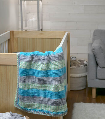 How To Make a Beachy Stripes Baby Blanket