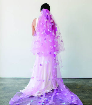 How To Make A Rit Dyed Bridal Veil