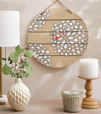 How To Make a Stenciled Flower Clock