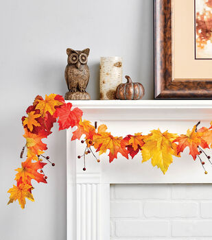 How To Make A Leaf and Berry Garland