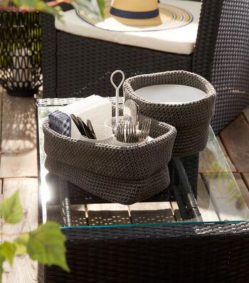 How To Make A Bernat Maker Outdoor Crochet Cutlery Basket