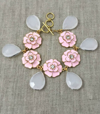 How To Make A Pink Posies Bracelet