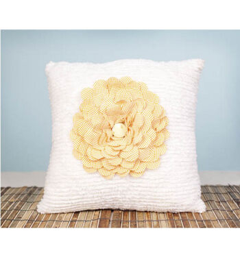 Cricut Flower Pillow