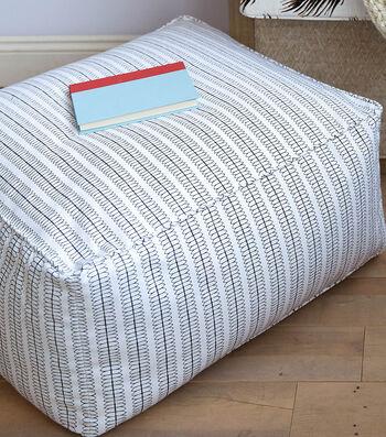How To Make A Home Dec Fabric Pouf