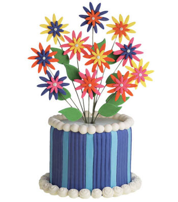 Daisy bouquet party cake