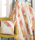 """44""""x 54"""" Wall-hanging with Half Square Triangles  and 18"""" Matching Pillow"""