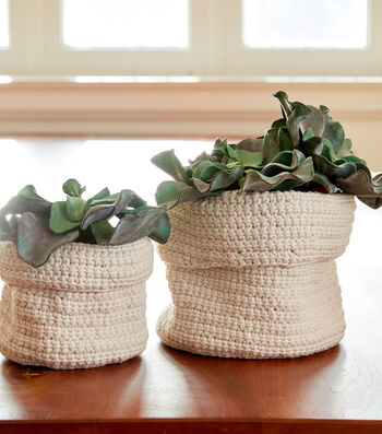 How To Make A Bernat Slouchy Crochet Plant Holder