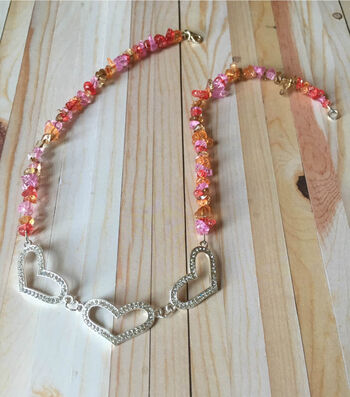 How to Make a Rock Candy Heart Neklace