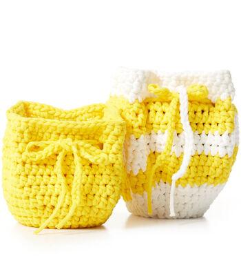 How To Make A Bernat Maker Outdoor Slouchy Crochet Plant Pot Cozy