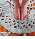 Crochet Rug with Tassels