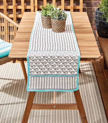 Knit A Mosaic Table Runner