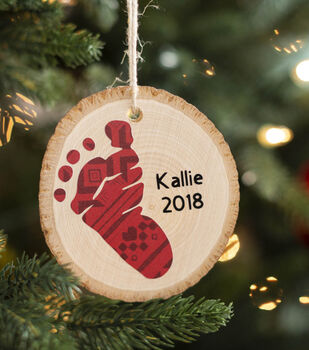 How To Make a Baby Footprint Ornament