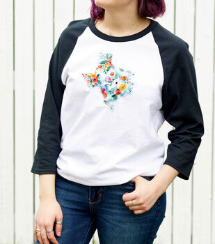 How To Make a State & Elbow Applique T-shirt