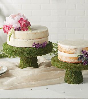 How To Make Moss Cake Stands