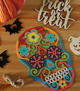 How To Make A Laser Cut Wood Plaque with Sugar Skull