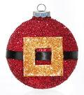 Glitter Santa\u0027s Bell Ornament