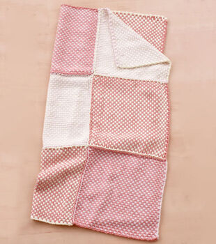 Loom Woven Pretty Pink Baby Throw