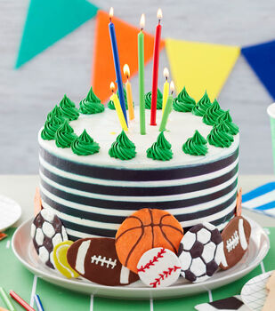How To Make A For the Love of Sports Birthday Cake