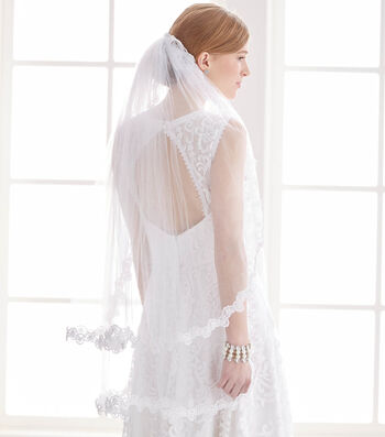 How To Make A Trimmed Wedding Veil
