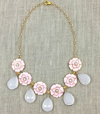 How To Make A Pink Posies Necklace