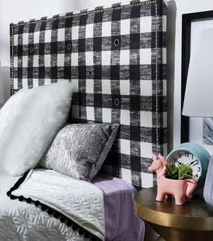 How To Make a DIY Painted Canvas Twin Headboard