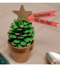 Christmas Quick Craft Pinecone Place Setting