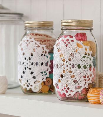 How To Make A Hearts Desire Doily-ed Jar