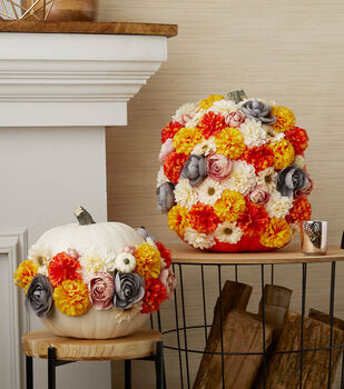 How To Make a Floral Pumpkins