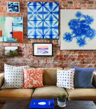 How To Make A Rit Dyed Indigo Dyed Gallery Wall
