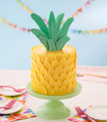 How To Make A Brush Stroke Pineapple Cake