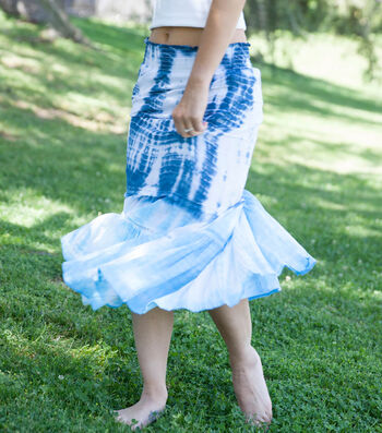 How To Make A Blue Shibori Skirt