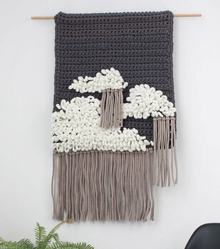 How to Make an Alize EZ Cloundy Sky Crochet Wall Hanging