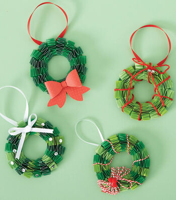 How To Make Paper Wreath Ornaments