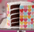 Colorful Hearts Layered Cake